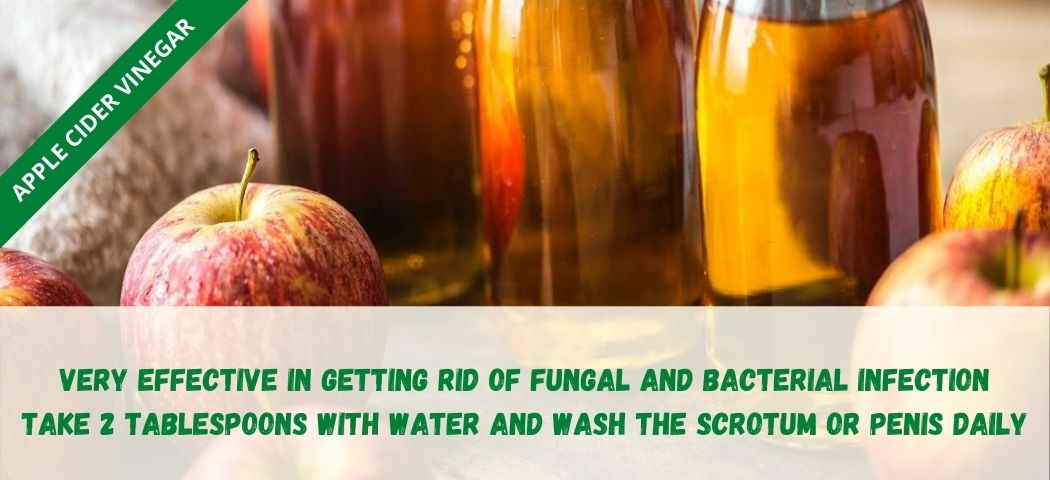 home remedy for private part itching -Apple Cider Vinegar