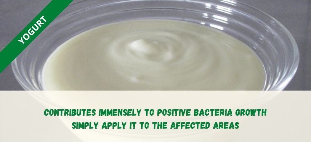 home remedy for private part itching - Yogurt