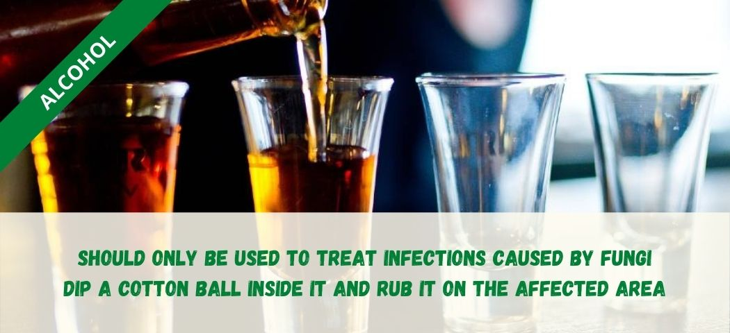 home remedy for private part itching - alcohol