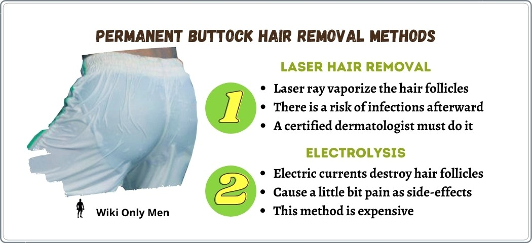 Two Permanent butt hair removal methods