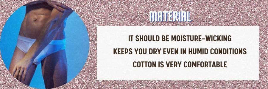 material - in underwear